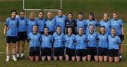 20 March 2011; The UUJ squad, back row, from left, Aoife McDonnell, Adele Gallagher, Cathy Carey, Laura McGillion, Neamh Woods, Clara Fitzpatrick, Emma Kelly, Colleen Magee, Aoibhinn McKenna, Julie Henderson and Niamh McGowan, with, front row, from left, Roisin Rafferty, Naomi McMullan, Maria Donnelly, Sinead Fegan, Orla Fegan, Eimear Kane, Christiane Hunter and Sinead McCoy. O'Connor Cup Final 2011, Dublin City University v University of Ulster Jordanstown, University of Limerick, Limerick. Picture credit: Stephen McCarthy / SPORTSFILE