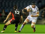 4 November 2016; Dan Tuohy of Ulster in action against Phil Burleigh of Edinburgh during the Guinness PRO12 Round 8 match between Edinburgh Rugby and Ulster at BT Murrayfield Stadium in Edinburgh, Scotland. Photo by Graham Stuart/Sportsfile