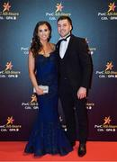 3 November 2017; Waterford hurler Jamie Barron with Mary O'Mahony upon arrival at the PwC All Stars 2017 at the Convention Centre in Dublin. Photo by Brendan Moran/Sportsfile
