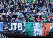 5 November 2016; Ireland supporters with a banner in memory of the late Munster head coach Anthony Foley during the International rugby match between Ireland and New Zealand at Soldier Field in Chicago, USA. Photo by Brendan Moran/Sportsfile