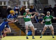 6 November 2016; Marty Kavanagh of St Mullins in action against Conor Jordan, 3, and Paul Greville, 6, both of Raharney during the AIB Leinster GAA Hurling Senior Club Championship quarter-final game between Raharney and St Mullins at TEG Cusack Park in Mullingar, Co. Westmeath. Photo by Sam Barnes/Sportsfile
