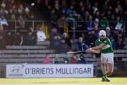 6 November 2016; Marty Kavanagh of St Mullins scores a free during the AIB Leinster GAA Hurling Senior Club Championship quarter-final game between Raharney and St Mullins at TEG Cusack Park in Mullingar, Co. Westmeath. Photo by Sam Barnes/Sportsfile