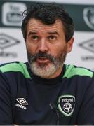 8 November 2016; Republic of Ireland assistant manager Roy Keane during a press conference at the FAI National Training Centre in the National Sports Campus, Abbotstown, Dublin. Photo by David Maher/Sportsfile