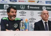 8 November 2016; Republic of Ireland assistant manager Roy Keane with FAI head of communications Ian Mallon during a press conference at the FAI National Training Centre in the National Sports Campus, Abbotstown, Dublin. Photo by David Maher/Sportsfile