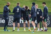 9 November 2016; Andy Boyle, centre, of Republic of Ireland with team-mates, from left, David McGoldrck, Jonathan Hayes, Adam Rooney, Daryl Horgan and Callum O'Dowda during squad training at the FAI National Training Centre in the National Sports Campus, Abbotstown, Dublin. Photo by David Maher/Sportsfile