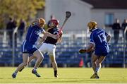 6 November 2016; Lar Corbett of Thurles Sarsfields, supported by team-mate Conor Lanigan in action against Joe Neylon of Ballyea during the AIB Munster GAA Hurling Senior Club Championship semi-final game between Ballyea and Thurles Sarsfields at Cusack Park in Ennis, Co Clare. Photo by Piaras Ó Mídheach/Sportsfile