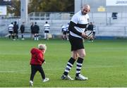 10 November 2016; Dan Tuohy of Barbarians and his son Jackson, age 2, during Barbarians RFC Captain's Run at Kingspan Stadium in Ravenhill Park, Belfast. Photo by Oliver McVeigh/Sportsfile