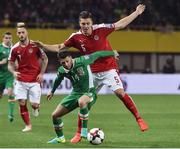 12 November 2016; Wes Hoolahan of Republic of Ireland in action against Kevin Wimmer of Austria during the FIFA World Cup Group D Qualifier match between Austria and Republic of Ireland at the Ernst Happel Stadium in Vienna, Austria. Photo by David Maher/Sportsfile