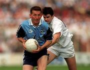 21 June 1998; Mick Deegan of Dublin gets past Martin Lynch of Kildare during the Bank of Ireland Leinster Senior Football Championship Quarter-Final Replay match between Kildare and Dublin at Croke Park in Dublin. Photo by David Maher/Sportsfile