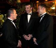30 November 2001; Pictured, from left, are Westmeath football players Ger Heavin, Eircell Vodafone nominee, Rory O'Connell, Eircell Vodafone All Star and David Mitchell, Eircell Vodafone nominee. Eircell Vodafone All Star Awards, City West Hotel, Saggart, Co. Dublin. Picture credit; Brendan Moran / SPORTSFILE *EDI*