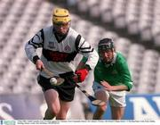 5 May 2001; Cahill Connolly, Gort, in action against St. Colemans. Gort Community School v St Colman's, Fermoy, All-Ireland Colleges Senior 'A' Hurling Final, Croke Park, Dublin. Hurling. Picture credit; Ray McManus / SPORTSFILE