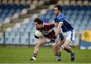 13 November 2016; Rian Brady of St Columbas in action against Gerry Grehan of St Lomans during the AIB Leinster GAA Football Senior Club Championship quarter-final game between St Columbas and St Lomans at Glennon Brothers Parse Park in Longford. Photo by Sam Barnes/Sportsfile