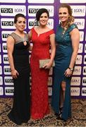 12 November 2016; In attendance at the TG4 Ladies Football All Stars awards in Citywest Hotel in Dublin are, from left, Sarah Houlihan of Kerry, Aisling Doonan of Cavan and Stephanie O'Reilly of Sligo.  Photo by Cody Glenn/Sportsfile