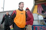 2 April 2011; Keith Gillespie, Longford Town, makes his way out on to the pitch before the game. Airtricity League First Division, Longford Town v Athlone Town, Flancare Park, Longford. Picture credit: Paul Mohan / SPORTSFILE
