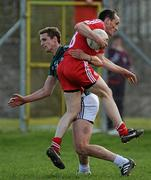 3 April 2011; Brian Dooher, Tyrone, in action against Hugh Lynch, Kildare. Allianz Football League Division 2 Round 6, Tyrone v Kildare, O'Neill's Park, Dungannon, Co. Tyrone. Picture credit: Brian Lawless / SPORTSFILE