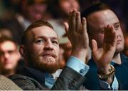 19 November 2016; UFC Lightweight and Featherweight champion Conor McGregor at UFC Fight Night 99 in the SSE Arena, Belfast. Photo by David Fitzgerald/Sportsfile