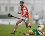20 November 2016; Mark Schutte of Cuala in action against Ger Coady of St. Mullins during the AIB Leinster GAA Hurling Senior Club Championship semi-final match between St. Mullins and Cuala at Netwatch Cullen Park in Carlow. Photo by David Maher/Sportsfile