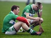 20 November 2016; Dejected players Marty Kavanagh, right, and Seamus Murphy of St. Mullins at the end of the AIB Leinster GAA Hurling Senior Club Championship semi-final match between St. Mullins and Cuala at Netwatch Cullen Park in Carlow. Photo by David Maher/Sportsfile