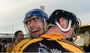 20 November 2016; James Murphy, left, and Gearóid O'Connell of Ballyea celebrate after the AIB Munster GAA Hurling Senior Club Championship Final match between Ballyea and Glen Rovers at Semple Stadium in Thurles, Co. Tipperary. Photo by Piaras Ó Mídheach/Sportsfile