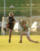 20 November 2016; Amy Connolly of Foxrock Cabinteely  in action against Marie Corbett of Carnacon during the LGFA All Ireland Senior Club Championship semi-final match between Foxrock Cabinteely and Carnacon at Bray Emmets in Co. Wicklow. Photo by Sam Barnes/Sportsfile