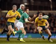 26 November 2016; Jared Payne of Ireland in action against David Pocock, left, and Reece Hodge of Australia during the Autumn International match between Ireland and Australia at the Aviva Stadium in Dublin. Photo by Cody Glenn/Sportsfile