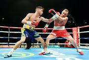 26 November 2016; Martin J. Ward, left, exchanges punches with Ronnie Clark during their British Super Featherweight Championship fight at Wembley Arena in London, England. Photo by Stephen McCarthy/Sportsfile