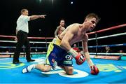 26 November 2016; Martin J. Ward during his British Super Featherweight Championship fight with Ronnie Clark at Wembley Arena in London, England. Photo by Stephen McCarthy/Sportsfile
