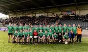27 November 2016; The Adare squad, wearing Limerick county jerseys due to a clash of colours, before the AIB Munster GAA Football Intermediate Club Championship Final between Kenmare and Adare at Mallow GAA Complex in Mallow, Co Cork. Photo by Diarmuid Greene/Sportsfile