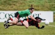 27 November 2016; Kevin O'Sullivan of Kenmare in action against Diarmuid Sexton of Adare during the AIB Munster GAA Football Intermediate Club Championship Final between Kenmare and Adare at Mallow GAA Complex in Mallow, Co Cork. Photo by Diarmuid Greene/Sportsfile
