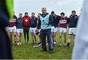 27 November 2016; St. Columbas manager Mickey Graham speaking to his team following their defeat in the AIB Leinster GAA Football Senior Club Championship Semi-Final game between St. Columbas and St. Vincent's at Glennon Bros Pearse Park in Longford. Photo by Ramsey Cardy/Sportsfile