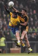 27 November 2016; Ambrose O'Donovan of Dr Crokes in action against Shane Walsh of The Nire during the AIB Munster GAA Football Senior Club Championship Final between Dr. Crokes and The Nire at Mallow GAA Complex in Mallow, Co Cork. Photo by Diarmuid Greene/Sportsfile