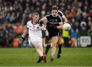 27 November 2016; Christopher Bradley of Slaughtneil in action against Aaron Branagan of Kilcoo during the AIB Ulster GAA Football Senior Club Championship Final game between Slaughtneil and Kilcoo at the Athletic Grounds in Armagh. Photo by Oliver McVeigh/Sportsfile