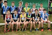 27 November 2016; Top 12 finishers in the Under 12 Boys' race during the Irish Life Health National Cross Country Championships at the National Sports Campus in Abbotstown, Co Dublin. Photo by Cody Glenn/Sportsfile