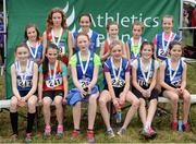 27 November 2016; Top 12 finishers in the Under 12 Girls' race finish during the Irish Life Health National Cross Country Championships at the National Sports Campus in Abbotstown, Co Dublin. Photo by Cody Glenn/Sportsfile