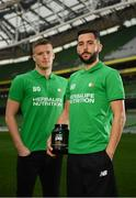 2 December 2016; Shamrock Rovers star David Webster and new signing Paul Corry took part in a Sports Nutrition panel discussion, hosted in the Aviva Stadium, by global nutrition company Herbalife (NYSE: HLF) who offer a range of WADA approved sports performance products. Photo by Ramsey Cardy/Sportsfile