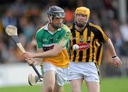 17 April 2011; Stephen Egan, Offaly, in action against James 'Cha' Fitzpatrick, Kilkenny. Allianz Hurling League, Division 1, Round 7, Kilkenny v Offaly, Nowlan Park, Kilkenny. Picture credit: Matt Browne / SPORTSFILE