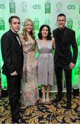 2 December 2016; Jason and Elise Smyth, from Derry City, with Nicole Martin and Micheal McKillop, from Belfast, in attendance at the OCS Irish Paralympic Awards at the Ballsbridge Hotel in Dublin. Photo by Sam Barnes/Sportsfile