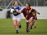 3 December 2016; Sadhbh O'Leary of Kinsale in action against Laura Carthy of St. Maurs during the All Ireland Junior Club Championship Final 2016 match between Kinsale and St. Maurs at Dr Cullen Park in Carlow. Photo by Matt Browne/Sportsfile