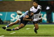 3 December 2016; Charles Piutau of Ulster is tackled by Rey Lee-Lo of Cardiff Blues during the Guinness PRO12 Round 10 match between Cardiff Blues and Ulster at BT Sport Cardiff Arms Park in Cardiff, Wales. Photo by Chris Fairweather/Sportsfile