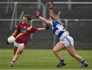 3 December 2016; Laura Carthy of St. Maurs in action against Emma O'Brien of Kinsale during the All Ireland Junior Club Championship Final 2016 match between Kinsale and St. Maurs at Dr Cullen Park in Carlow. Photo by Matt Browne/Sportsfile