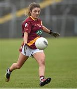 3 December 2016; Megan Foley of St. Maurs during the All Ireland Junior Club Championship Final 2016 match between Kinsale and St. Maurs at Dr Cullen Park in Carlow. Photo by Matt Browne/Sportsfile