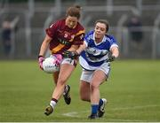 3 December 2016; Olivia Leonard of St. Maurs in action against Emma O'Brien of Kinsale during the All Ireland Junior Club Championship Final 2016 match between Kinsale and St. Maurs at Dr Cullen Park in Carlow. Photo by Matt Browne/Sportsfile