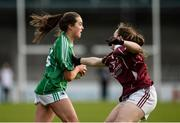 4 December 2016; Aimee Mackin of Shane O'Neills in action against Bronagh Quinn of Annaghdown during the All Ireland Ladies Football Intermediate Club Championship Final 2016 match between Annaghdown and Shane O'Neills at Parnell Park in Dublin. Photo by Sam Barnes/Sportsfile