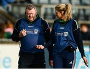 4 December 2016; Shane O'Neills joint managers Peter Lynch and Caoibhe Sloan during the All Ireland Ladies Football Intermediate Club Championship Final 2016 match between Annaghdown and Shane O'Neills at Parnell Park in Dublin. Photo by Sam Barnes/Sportsfile