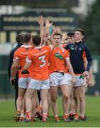 4 December 2016; Armagh players congratulate eachother after the O'Fiaich Cup Semi-Final match between Armagh and Derry at St Oliver Plunkett Park in Crossmaglen, Co Armagh. Photo by Piaras Ó Mídheach/Sportsfile