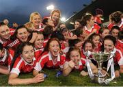 4 December 2016; Donaghmoyne players celebrate with the cup following the All Ireland Ladies Football Senior Club Championship Final 2016 match between Donaghmoyne and Foxrock Cabinteely at Parnell Park in Dublin. Photo by Sam Barnes/Sportsfile