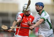 4 December 2016; Colm Cronin of Cuala in action against Brian Hogan of O'Loughlin Gaels during the AIB Leinster GAA Hurling Senior Club Championship Final match between O'Loughlin Gaels and Cuala at O'Moore Park in Portlaoise, Co Laois. Photo by David Maher/Sportsfile