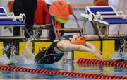 4 December 2016; Lucy Agnew of Hamilton aquatics SC competing in Womens 100M backstroke the Irish Short Course swimming Championships at Lagan Valley Leisureplex, Lisburn, Co Antrim. Photo by Oliver McVeigh/Sportsfile