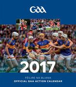 The Official GAA Action Calendar 2017 with a page to view per month features action and fan shots throughout. Postage is additional to the retail price of €9.95