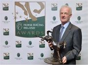 28 November 2016; Willie Mullins, winner of the National Hunt Racing Award, at the 2016 Horse Racing Ireland Awards at Leopardstown Racecourse in Dublin. Photo by Piaras Ó Mídheach/Sportsfile